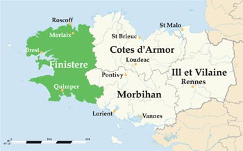 Finistere map