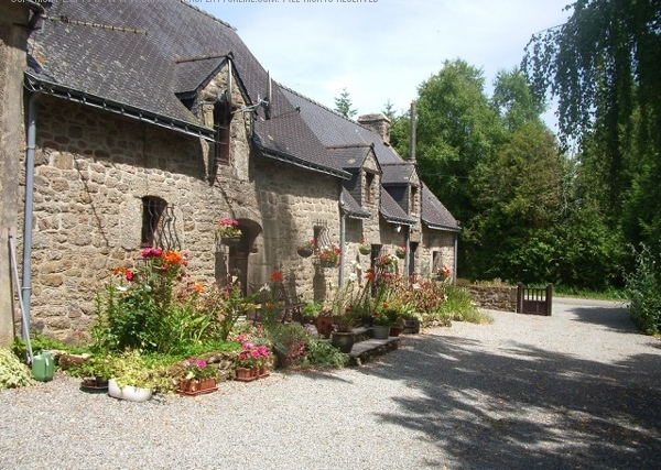 AHIB-2-JS3189588 Nr Pontivy 56310 Main 3 bed house and attached 3 bed gite on 4885m2 - optional woodland.