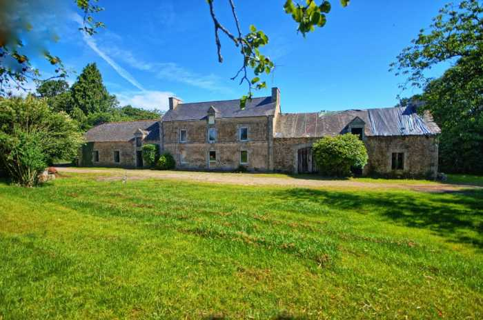 AHIB-2-YL-2483 Naizan Between Pontivy and Josselin 56500 - Superb detached farmhouse renovation project with 3 acres