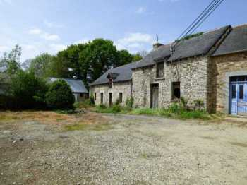 AHIB-1-ID2224 Plemet 22210 Semit detached stone Longère with outbuildings and 2.5 acres