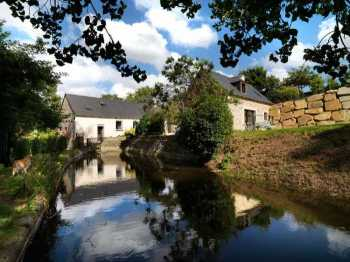 AHIB-1-BB10051-SP Jugon les Lacs area 22640 Stunning refurbished 18th century 3bedroom water mill property in idyllic location + 1 bedroom gite on 4 hectares