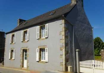 AHIB-3-mon1817 Plouneour-Menez 29410 Pretty 2 bedroomed village house with garage and 1/4 acre grounds.